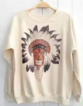 Ladies sweater 'Chief Indian Lion' - free size